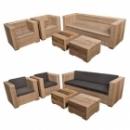 Tuinset Lounge Massief in oud steigerhout