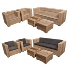 Tuinset Lounge Massief in oud steigerhout