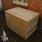 Kussenbox op wielen in gebruikt steigerhout