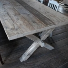 Boeren / klooster tafel in gebruikt steigerhout