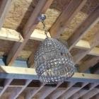Vintage kristallen hanglamp 'laca'