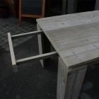 Verlengbare tafel in oud steigerhout