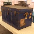 Vintage koffer blauw