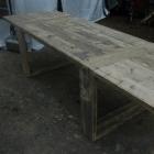 Tafel / Tuintafel 'Type OO' in oud steigerhout