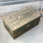 Vintage metalen koffer letters