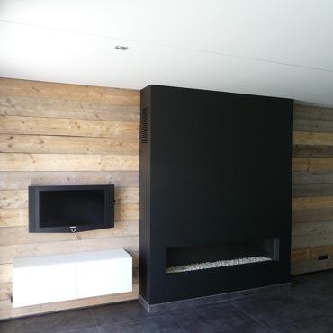 muur gebruikt steigerhout